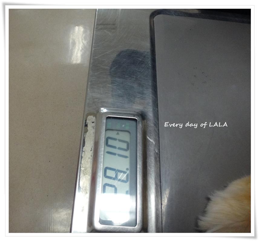 今回のララ体重