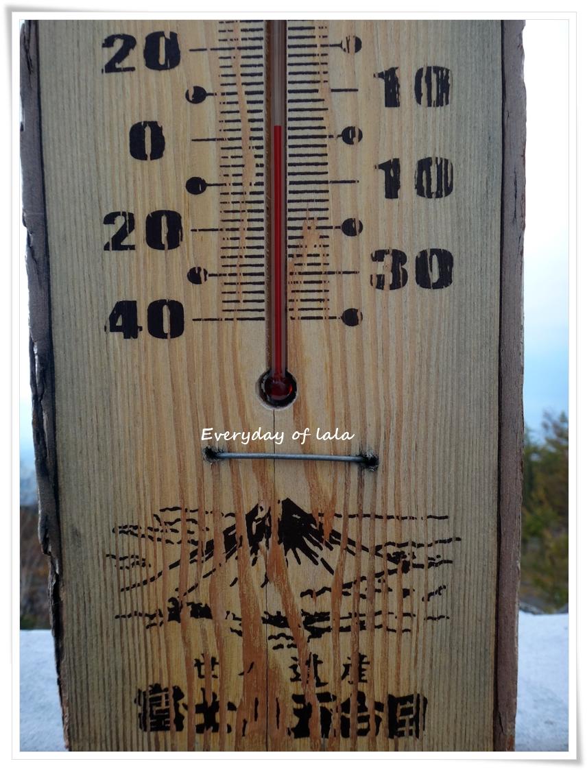 富士山五合目の気温