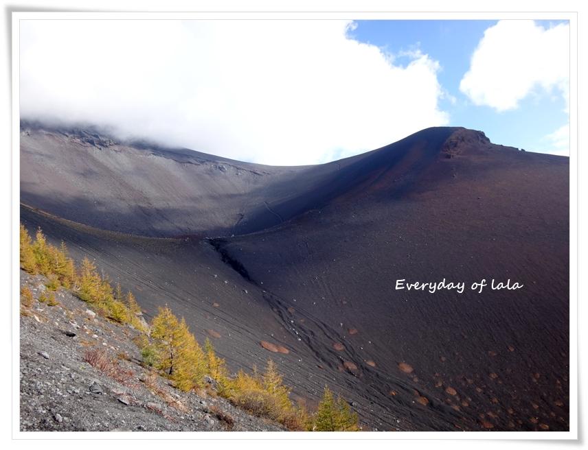 雲があり富士山山頂は見えなかった