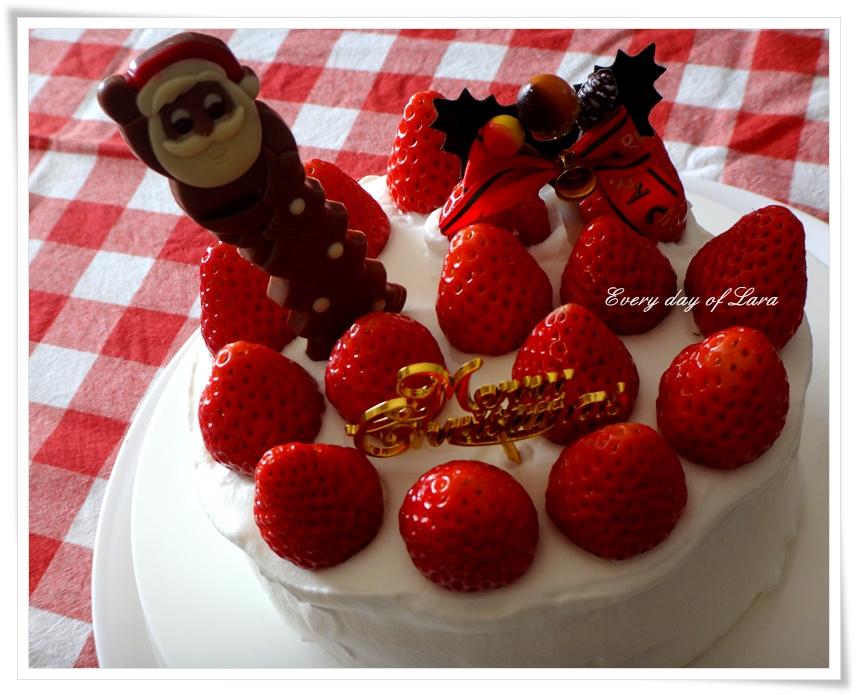 クリスマスケーキ作ってみた