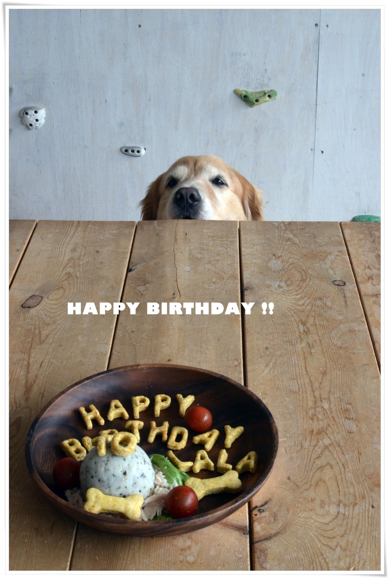 ララと10歳ケーキが目の前