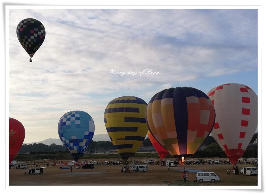 早朝の熱気球のはじまり~3