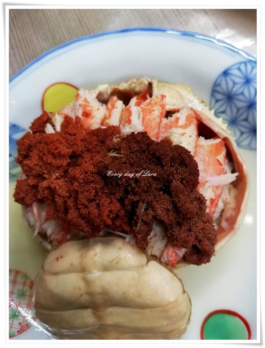 菊一の蟹面