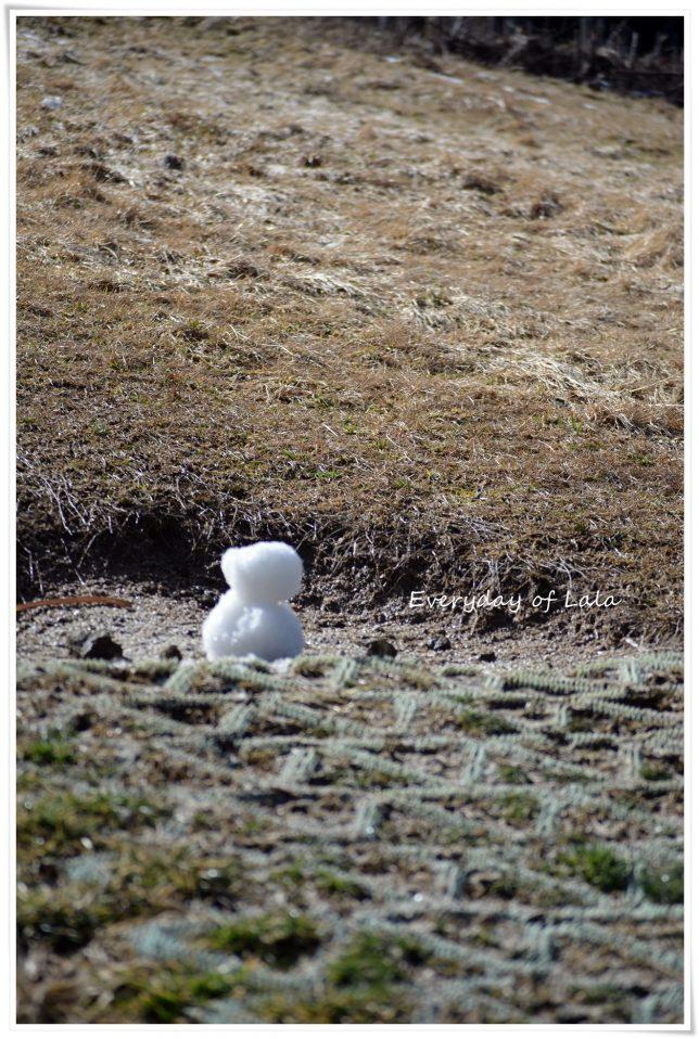 揖斐で雪だるまをつくる