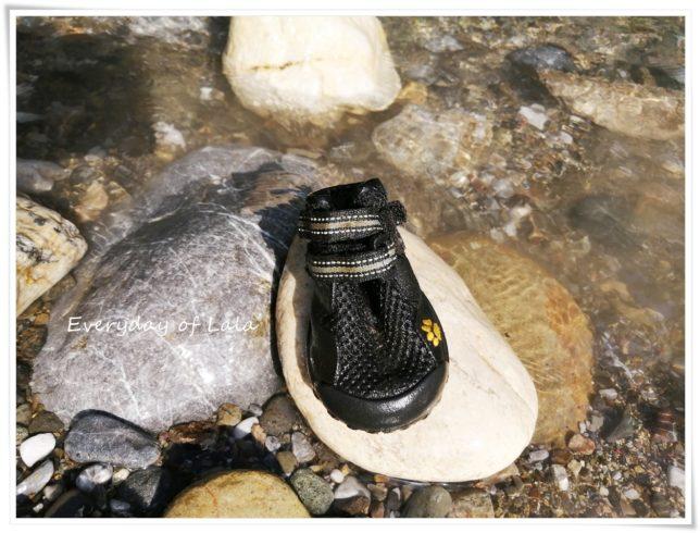 無くしたブーツを川底で見つけた